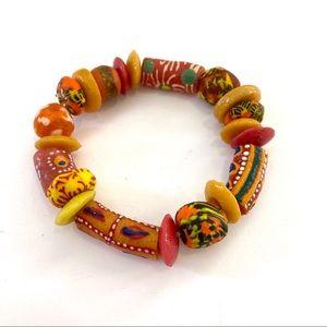 African Krobo Recycled Glass Beaded Bracel…
